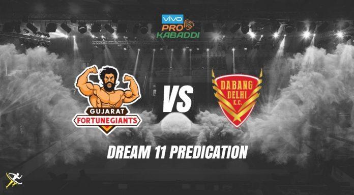 Dream11 DEL vs GUJ Pro Kabaddi League 2019