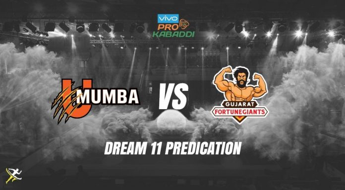 Dream11 MUM vs GUJ Pro Kabaddi League 2019