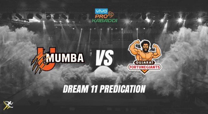 Dream11 MUM vs GUJ Pro Kabaddi League 2019