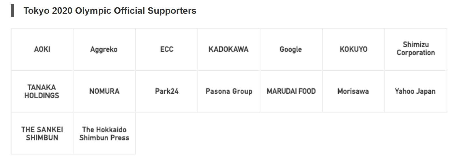 Supporter KreedOn Olympic Sponsors