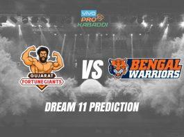 Dream11 GUJ vs BEN Pro Kabaddi League 2019