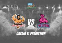 Dream11 GUJ vs JAI Pro Kabaddi League 2019