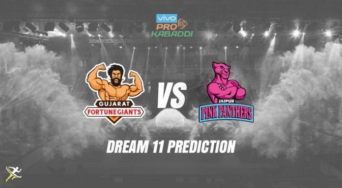 Dream11 JAI vs GUJ Pro Kabaddi League 2019