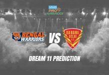 Dream11 BEN vs DEL Pro Kabaddi League 2019