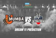 U Mumba vs Haryana Steelers Dream11 Prediction