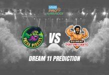 Dream11 PAT vs GUJ Pro Kabaddi League 2019 | PKL Prediction