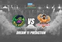 Dream11 PAT vs GUJ Pro Kabaddi League 2019 | PKL Prediction