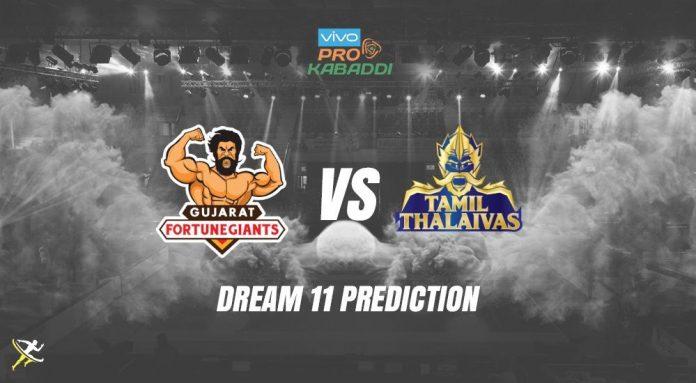 Dream11 GUJ vs TAM Pro Kabaddi League 2019