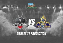 Dream11 TAM vs HAR Pro Kabaddi League 2019