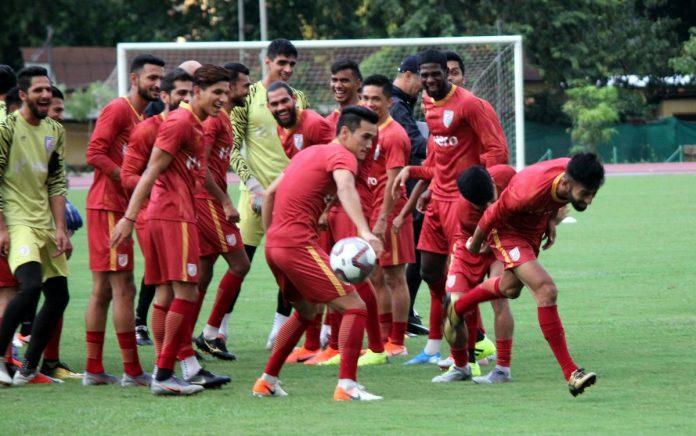 Indian football team training KreedOn