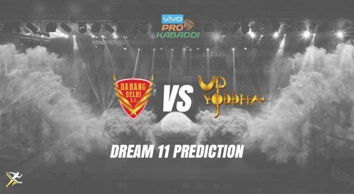 Dream11 UP vs DEL Pro Kabaddi League 2019