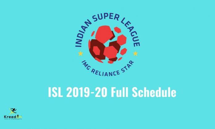 ISL Schedule 2019-20 KreedOn