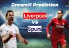 LIV vs TOT Dream11 Prediction   Liverpool vs Tottenham