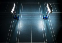 Badminton court flooring KreedOn