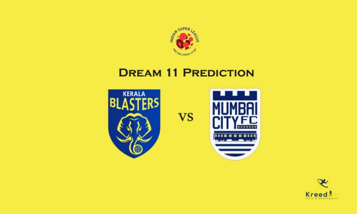 MCFC vs KBFC Dream11 Prediction 2019