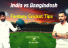 IND vs BAN 1st Test Dream11 Prediction