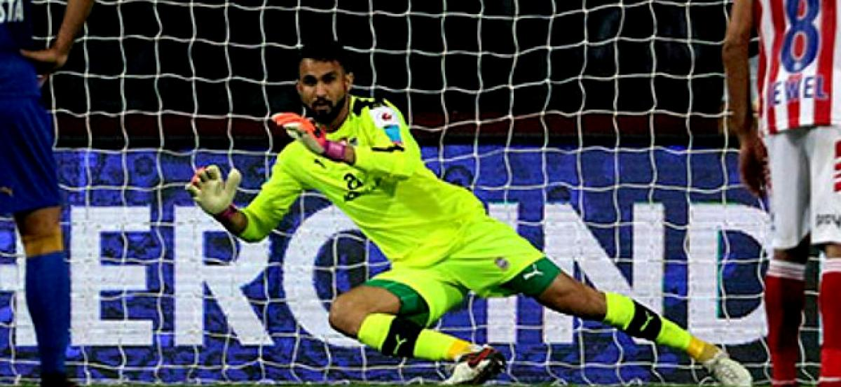 amrinder most saves in ISL kreedon