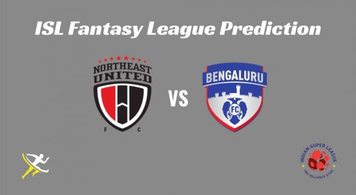 NorthEast United FC vs Bengaluru FC Dream11 Prediction ISL 2019