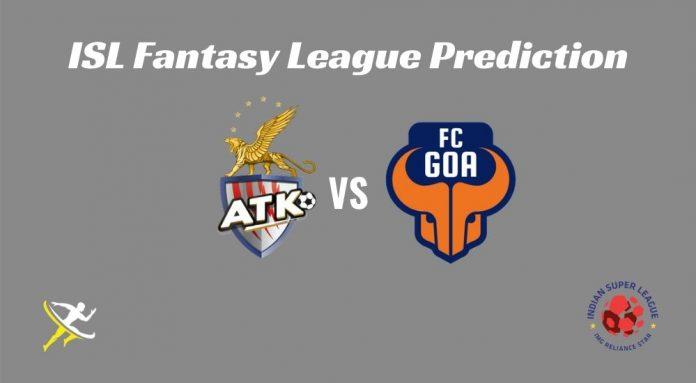 FC Goa vs ATK Dream11 Prediction 2019