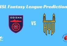 Odisha FC vs Hyderabad FC Dream11 Prediction ISL 2019