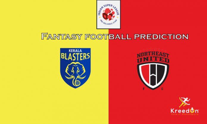 NorthEast United vs Kerala Blasters Dream11 Prediction 2019