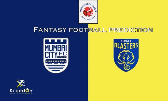 Mumbai City FC vs Kerala Blasters FC Dream11 Prediction ISL 2019