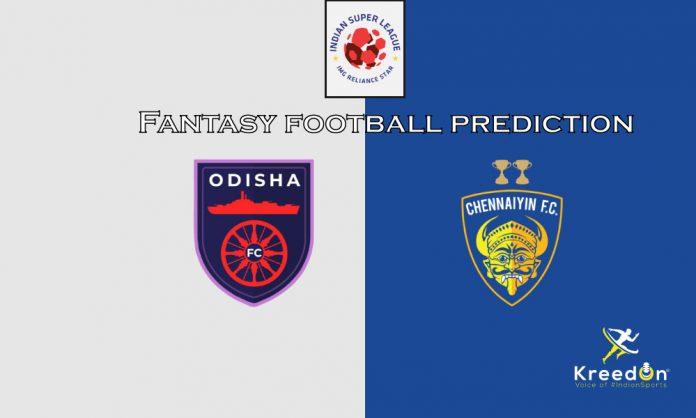 Chennaiyin vs Odisha Dream11 Prediction 2020