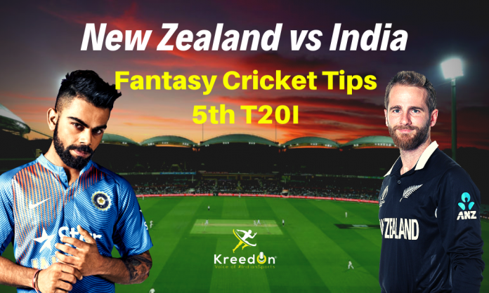 NZ vs IND 5th T20I Dream11 Prediction