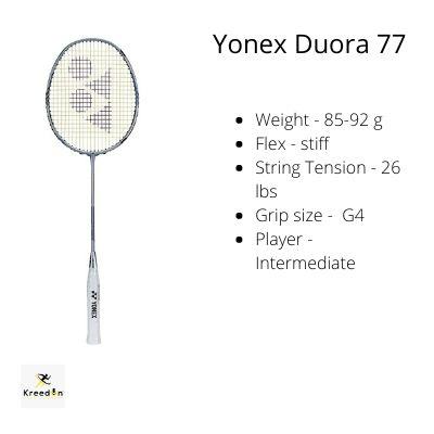 badminton rackets under 5000 kreedon