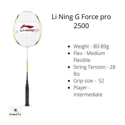 badminton rackets under 3000 kreedon