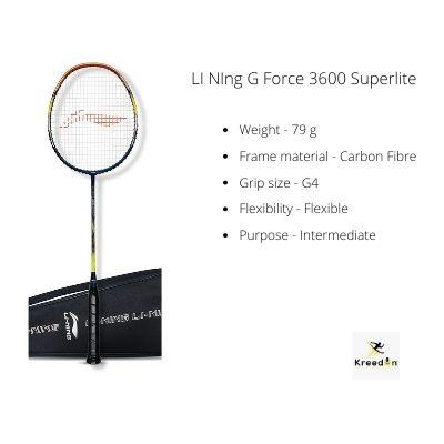 Li Ning rackets kreedon