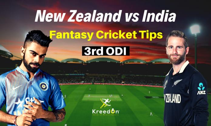 NZ vs IND 3rd ODI Dream11 Prediction