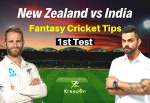 NZ vs IND 1st Test Dream11 Prediction
