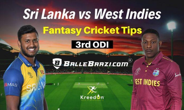 SL vs WI 3rd ODI Dream11 Prediction