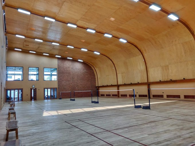 wood sports flooring Badminton Wooden Flooring