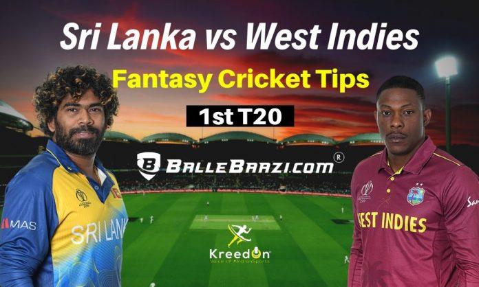 SL vs WI 1st T20 Dream11 Prediction