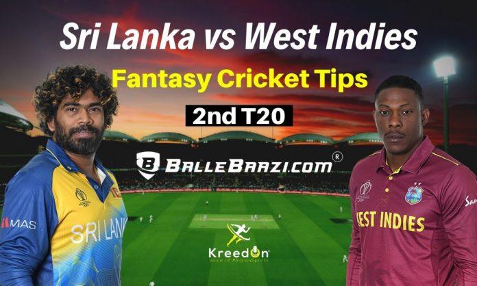 SL vs WI 2nd T20 Dream11 Prediction