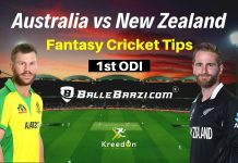 AUS vs NZ 1st ODI Dream11 Prediction