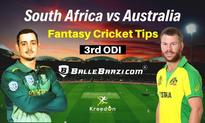 SA vs AUS 3rd ODI Dream11 Prediction