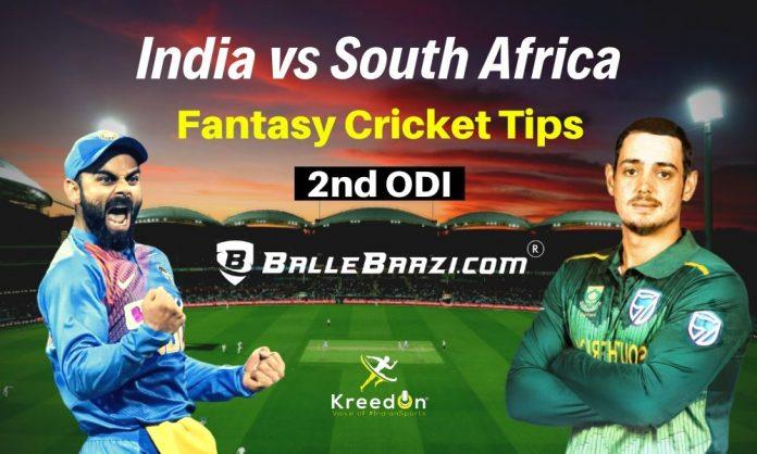 IND vs SA 2nd ODI Dream11 Prediction