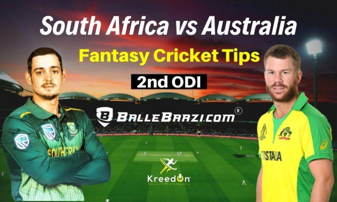 SA vs AUS 2nd ODI Dream11 Prediction