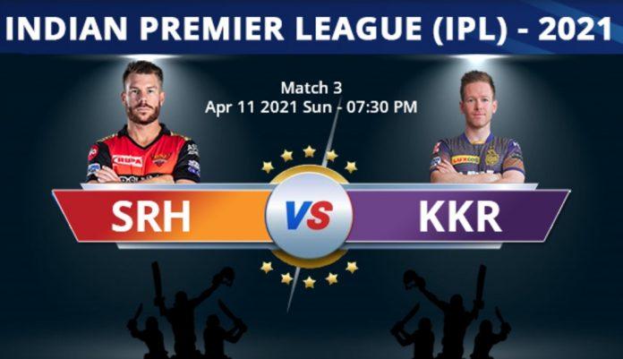srh vs kkr, IPL 2021, KreedOn