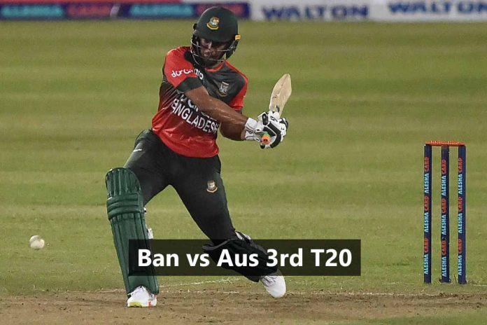 Ban vs Aus 3rd t20 dream11 prediction KreedOn
